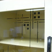 Intrigued by glass cabinet fronts? Us too!